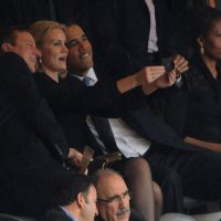 Obama creates international incident with 'selfie' at Mandela service