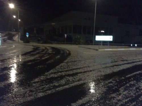 Snow and Hail at Guaza, Tenerife South