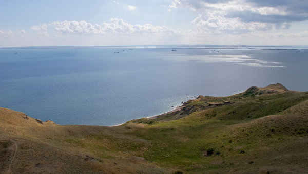 View of the Kerch Strait