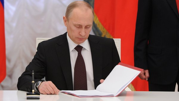Putin Signs Final Crimea Reunification Decree