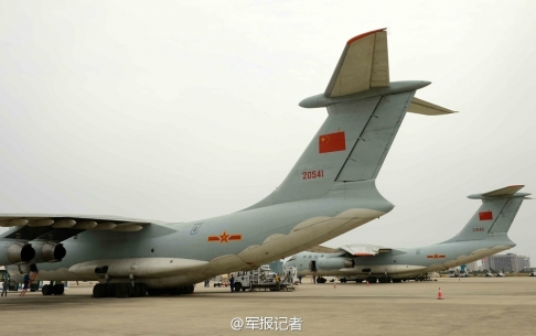 Two Russian-Made llyshin IL76  Aircraft Seen At Sanya Pheonix International Airport Before Takeoff For Malaysia Friday Morning.  SCREENSHOT: via Sina Weibo