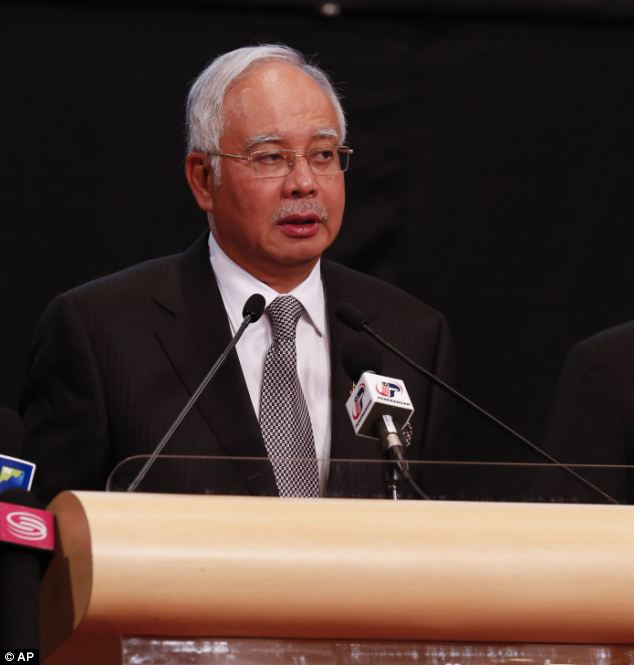 Malaysian Prime Minister Najib Razak today said a new analysis of satellite data suggested the missing Malaysia Airlines plane ended its flight in the southern Indian Ocean Read more: http://www.dailymail.co.uk/news/article-2587209/Now-France-says-satellite-images-objects-missing-MH370-airliner.html#ixzz2wvTVLHw3  Follow us: @MailOnline on Twitter | DailyMail on Facebook