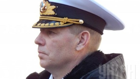 Ukrainian naval commander Sergiy Gaiduk has gone missing, the Ukrainian Defense Ministry said.