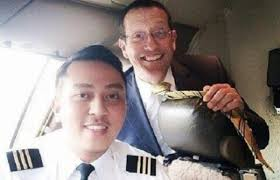 Photo of First Officer Fariq Abd Hamid onboard MH370 and CNN reporter Richard Quest shared on social media