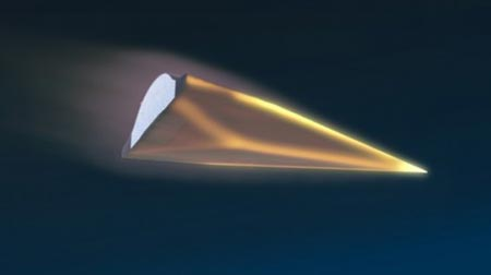 Concept art of China's WU-14 hypersonic vehicle. (Internet photo)