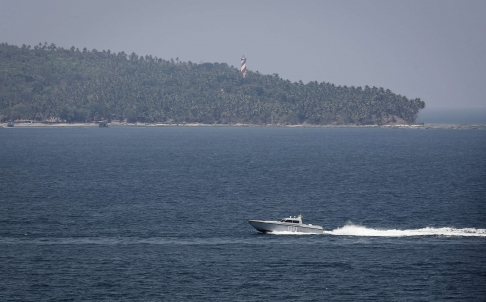 An Indian Navy Boat Patrols In The Waters Of The Adaman Sea PHOTO: REUTERS