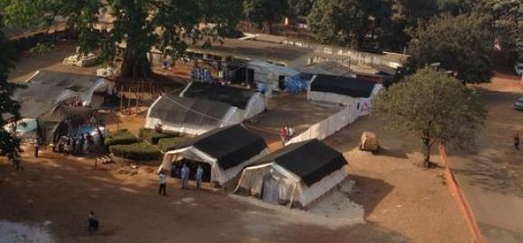 The MSF Ebola Treatment Centre in Conkary, Guinea