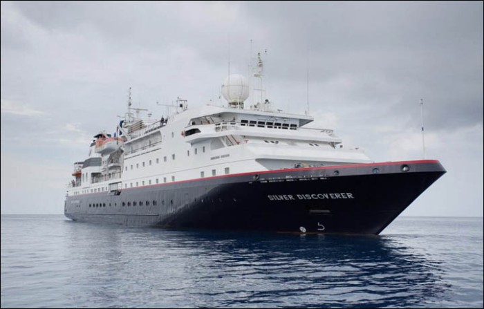 'None of the passengers can go ashore because the border authorities do not permit them to do so. Allegedly there was an order from Moscow not to let the foreigners off the boat.' Picture: silversea.com