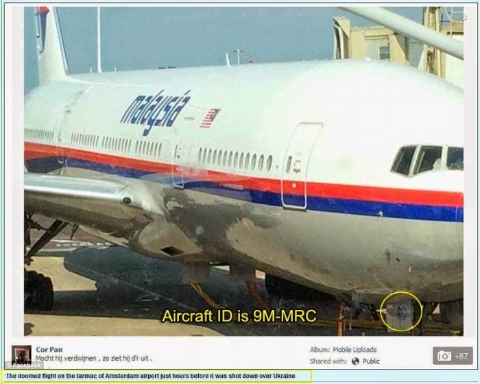 MH17 wrong tale identification number