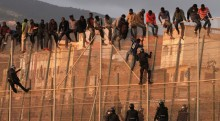 jump the Melilla border fence. / ATLAS